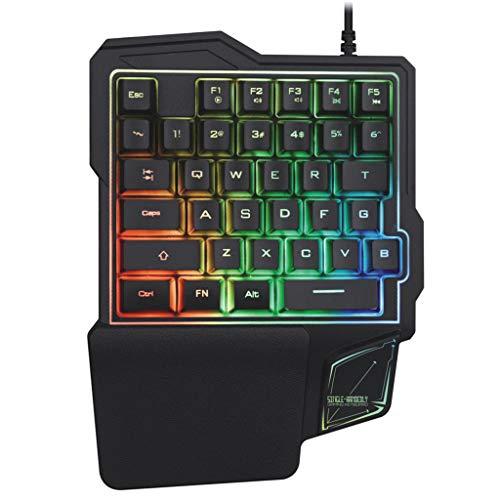 Haijun Tastiera per computer K103 Gaming Tastiera meccanica con una sola mano per telefono PUBG