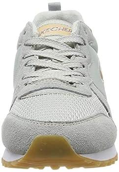 Skechers Retros-OG 85-goldn Gurl, Baskets Femme,Gris (Light Gray Suede/Nylon/Mesh/Rose Gold Trim Ltgrey) , 39 EU ( 6 UK )