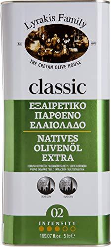 'Lyrakis Family depuis 1975' | Huile d'olive 5l | Extra Vierge - Pressée à Froid | Crète | Grèce | PREMIUM | 5 Liters
