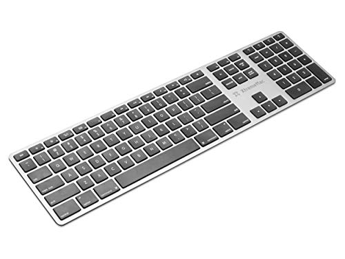 XtremeMac Universal Bluetooth AZERTY (französisch) Tastatur & Ziffernblock für iMacs, MacBooks, Laptop, Kabellos, Wireless Keyboard