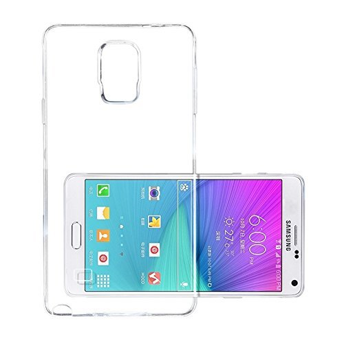 Samsung Galaxy Note4 Case, iCoverCase Ultra-thin Silicon Back Cover Clear Plain Lightweight Protective Soft TPU Rubber Skin Case for Samsung Galaxy Note 4