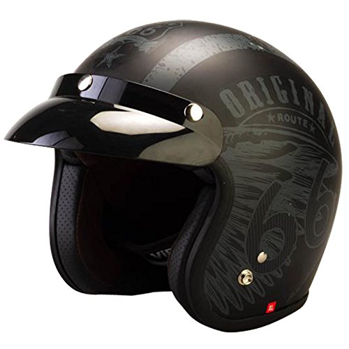 Viper RS-05 Open Gezicht Motorfiets Scooter Helm S (55-56cm) Rout 66