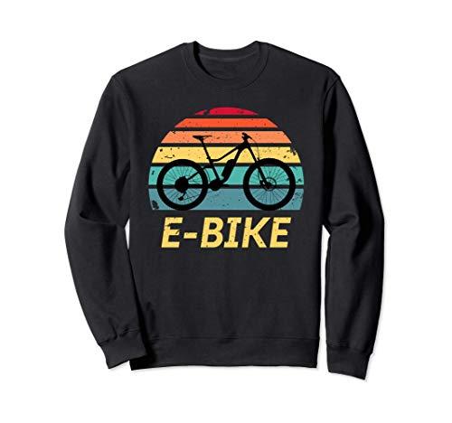 E-Bike - Vintage Electric Bike Bicycle Cycling & Cyclist Sweatshirt