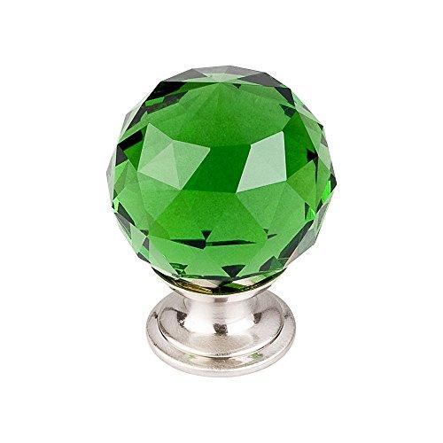 Top Knobs TK120BSN Crystal Knob Nickel