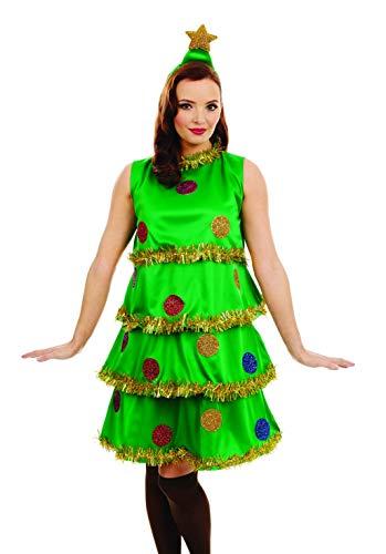 Fun Shack Verde Árbol De Navidad Disfraz para Mujeres - S