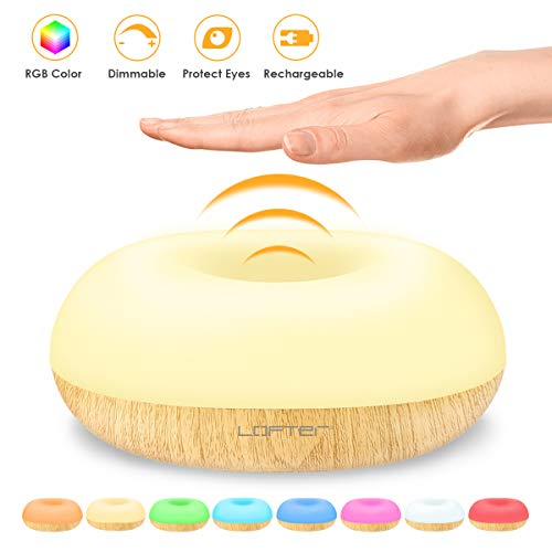 Baby Night Lights, Nursery Night Light Gesture Sensor Night Light Funny 8 Colors Changing, Dimmable Nursery Lamp for Baby Room