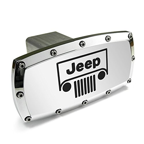 Jeep Grille Logo Billet Aluminum Tow Hitch Cover
