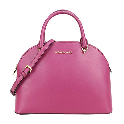 """100% Leather; Gold Tone Hardware Top Zippered Closure; Protective Feet Inside: MK signature fabric lining, 1 zippered pocket & 2 slip pockets Double Rolled Handles with 5"""" drop; Removable & Adjustable Shoulder Strap 13""""L X 9.5""""H X 5""""D; Dust Bag NOT I..."""