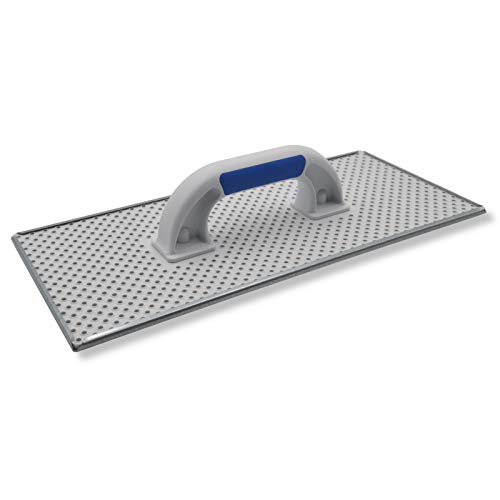 DEWEPRO® WDVS + Porenbeton Schleifbrett - Raspelbrett mit verzinktem Stahlblech-Raspelbelag - 400x180mm - Egalisierungsbrett - Schleifer