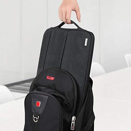 Voova Laptop Tasche 15.6 Zoll 15 Zoll mit Griff,wasserdichte Laptoptasche 15.6 Zoll Hülle Sleeve für MacBook Pro 15.4/Surface 15/Dell XPS 15/Chromebook mit 2 Taschen,Notebook Laptophülle Case-Schwarz