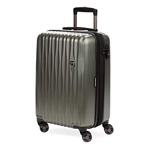 SWISSGEAR 7272 Energie Hardside Polycarbonate Spinner, Carry-On Luggage - Olive