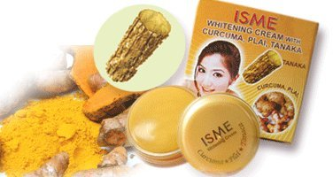 10x Isme Facial Whitening Lightening Cream with Curcuma Plai Tanaka Make up Base Best Product From Thailand