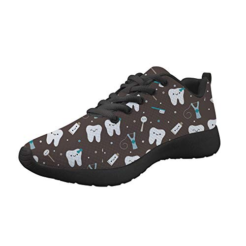 Upetstory Womens Walking Shoes Fashion Dental Pattern Running Sneakers Breathable Lightweight Shock Absorbing Sport Cross Trainer Athletic Gym Shoe Size 9 US