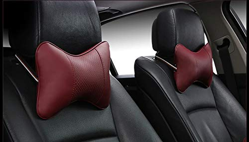 GREATCO Pack of 1 Q50 G37 etc BLACK Car Neck Pillows Memory Foam Leather WITH LOGO for Infiniti Head Support Protector Black//Red Universal Headrest Backrest Cushion Easy Install and Clean