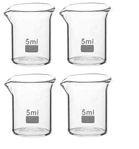 Rocwing, maatbeker met maatverdeling, borosilicaatglas 3.3, 5ml