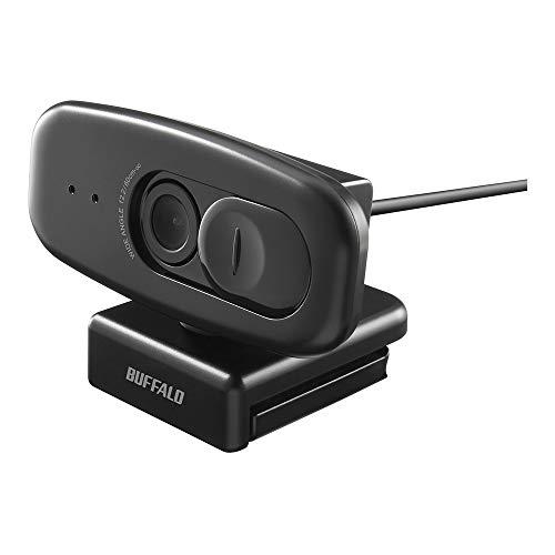BUFFALO 200万画素WEBカメラ 広角120°マイク内蔵 ブラック BSW505MBK