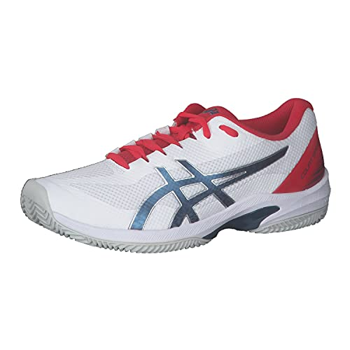 ASICS Uomini Court Speed FF Clay Scarpe da Tennis Scarpa per Terra Rossa Bianco - Blu 44