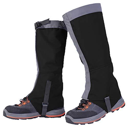 Kenyaw Polainas Impermeables Al Aire Libre Polainas Pantalones De Senderismo Al Aire Libre Escalada En La Nieve Senderismo Errante Caminar Escalada Caza Polainas En La Nieve (Negro/L)