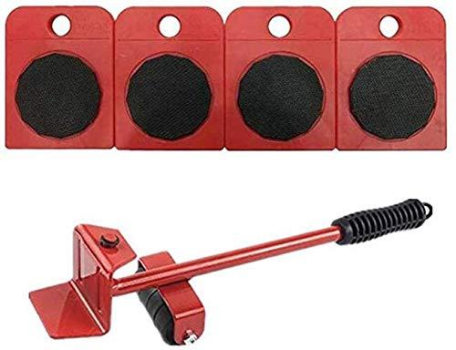genneric Heavy Duty Möbel Lifter Transport Tools mit 4 Sliders for einfache und sichere Bewegen, Ladegewicht 330Lbs (Color : Red)