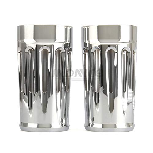 Motorcycle CNC Front Fork Boot Slider Covers Chrome For Harley Touring 1980-2016 Road King Street Glide Electra Glide Trike