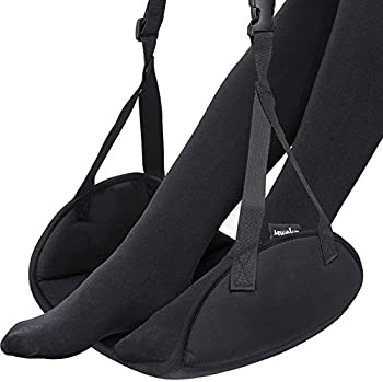 Upgraded Airplane Footrest - Thickened Super-Size Foot Hammock with Premium Memory Foam Reduce Swelling and Pain - Airplane Travel Accessories - Travel Foot Rest Make Your Long Trip More Comfortable