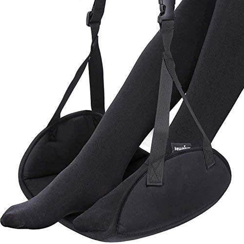 Upgraded Airplane Footrest - Thickened Super-Size Foot Hammock with Premium Memory Foam Reduce Swelling and Pain - Airplane Travel Accessories -...