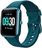 Smart Watch for Android/Samsung/iPhone, Activity Fitness Tracker with IP68 Waterproof for Men Women & Kids, Smartwatch with 1.3' Full-Touch Color Screen, Heart Rate & Sleep Monitor, Green