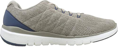 Skechers FLEX ADVANTAGE 3.0- STALLY-52957, Herren Low-Top, Beige (Taupe Blue Tpbl), 45 EU
