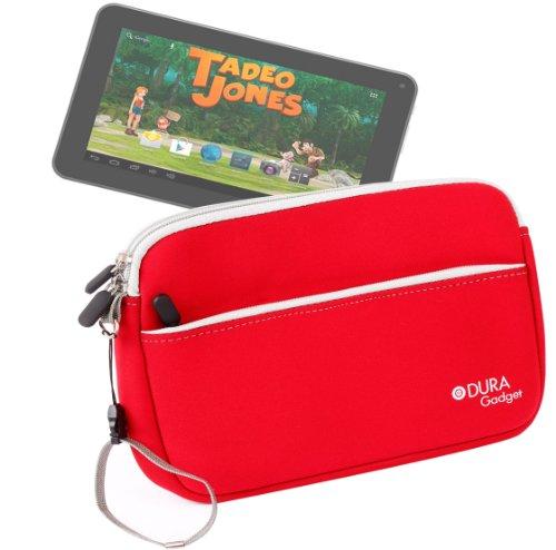DURAGADGET Funda Roja De Neopreno para Tablet Bluesens Tadeo Jones