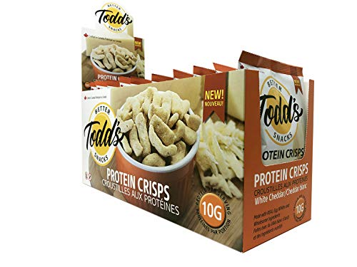 Todd's Better Snacks Protein Crisps White Cheddar, Pack of 10, 330 g