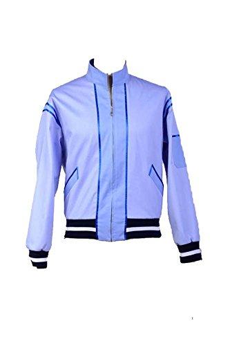 cultofmoon Bud Spencer Herren Kostüm Cosplay Jacke Halloween Karneval Verkleidung Mantel Gr. XXX-Large, blau
