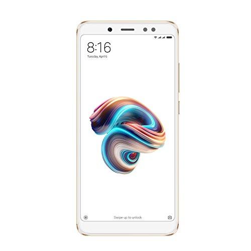 """Xiaomi Redmi Note 5 - Smartphone de 5.99"""" (Snapdragon Octa-core 636, memoria interna de 64 GB, 4 GB de RAM, cámara de 13 MP, Android) dorado [versión española]"""