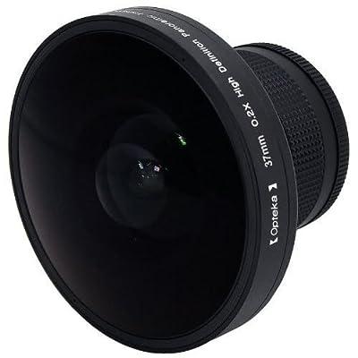 Opteka Platinum Series 0.2X HD Panoramic Vortex 220Deg Fisheye Lens for Panasonic VDR-M53, VDR-M55 and VDR-M95 Digital Camcorders from Opteka