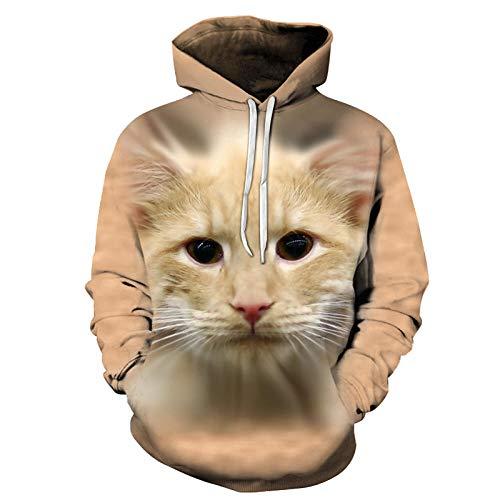 Preisvergleich Produktbild Star source Katze lässig Hoodie Straße kreativ drucken Hoodie Männer Sport Hoodie @ XXL_Lucky