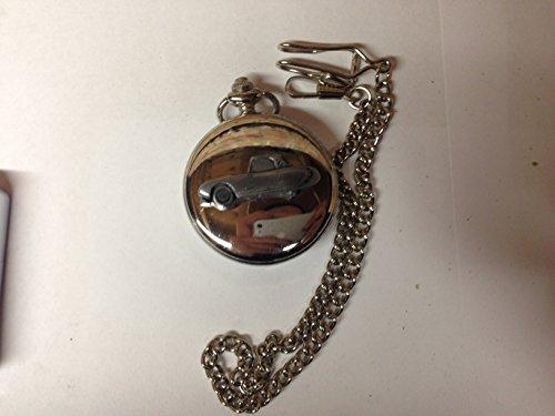 Berkeley T60 ref24 emblema de coche con efecto peltre pulido caja de plata para hombre regalo cuarzo reloj de bolsillo hecho en Sheffield