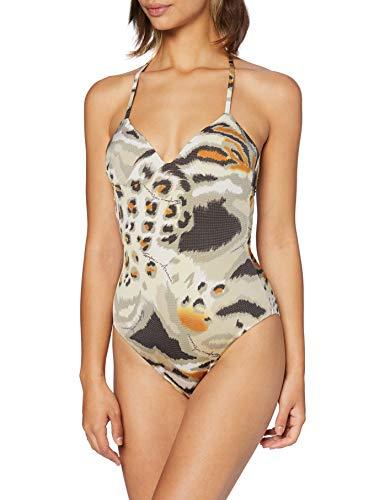 Emporio Armani Swimwear Padded Swimsuit Beachwear Tropical Safari bañadores, Multicolor (Stampato Animalier 62520), 40 (Talla del fabricante: Medium) para Mujer