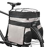 Roswheel Estante Trasero Bolsa para Maletero de Bicicleta Alforja de Equipaje Asiento Trasero Bolsa de Bicicleta de Ciclismo de Doble Lado 14590 con Funda para Lluvia Gris Negro