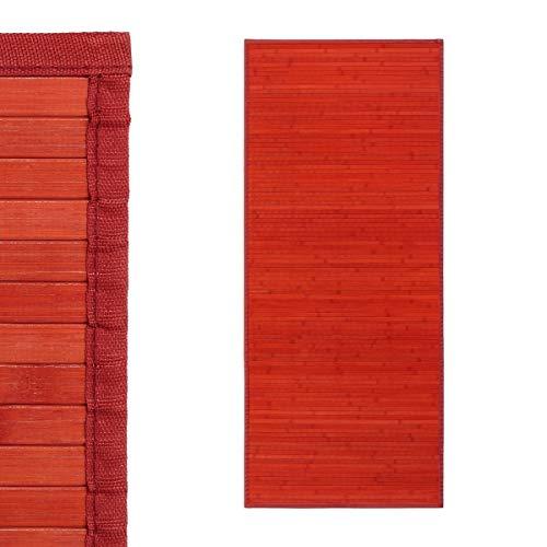 UNIMASA Alfombra pasillera provenzal Lila Alfombra pasillera Pop roja de bambú de 75 x 175 cm Irisbambú de 75 x 175 cm France