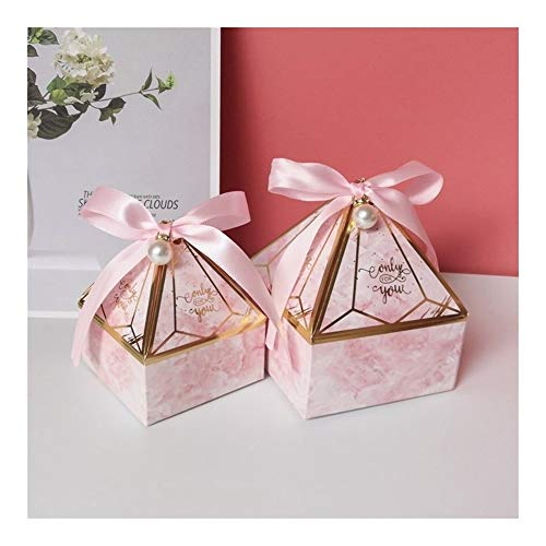 Homeilteds Süßigkeit-Kasten Kleiner Karton Wedding Card Box DecorationPaper Geschenkkarton Verpackung Event & Partyangebot Presents (Color : Pink, Gift Bag Size : S 7x7x8 cm)