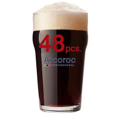 Arcoroc Nonic Biergläser, 570 ml, CE-gekennzeichnet, 570 ml CE-gekennzeichnet. Liefermenge: 48 Stück