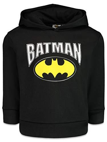 Warner Bros. DC Comics Batman Logo Kleinkind Jungen Athletic Fleece Pullover Hoodie Schwarz 5 Jahre