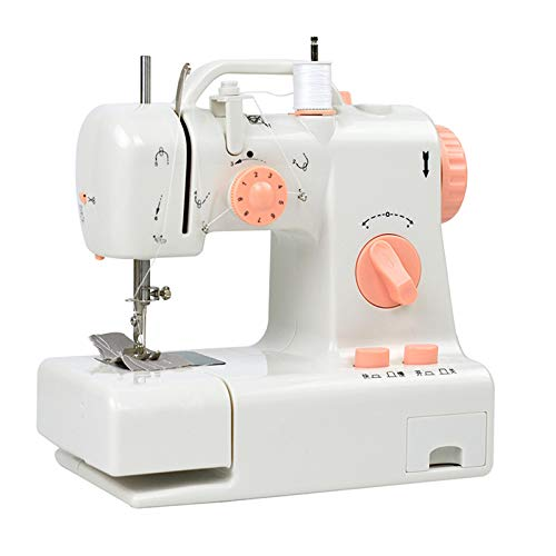 AIZYR Household Portable Sewing Machine, Electric Crafting Mending Machine Toolwith LED Sewing Lamp, Foot Pedal for Beginners Kids,UK Plug