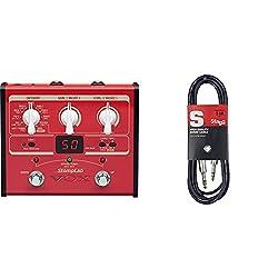 Stomplab SL1G basse & Stagg 10 m Câble Microphone XLR - XLR de Haute Qualité - Noir