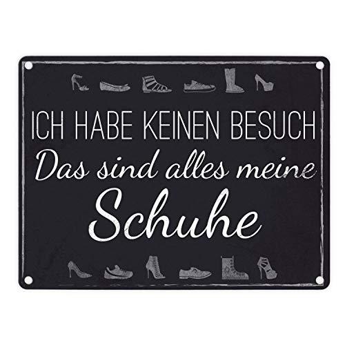 trendaffe - Das Alles Meine Schuhe Metallschild in 15x20 cm