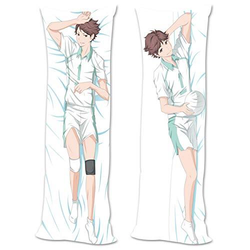 Salemor Haikyuuu!! Oikawa Tooru Anime Body Funda de almohada de doble cara con estampado de personajes de anime