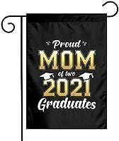 2021年のクラスの誇り高いお母さん卒業生の庭の旗12x18両面農場の芝生屋外の装飾庭のバナー
