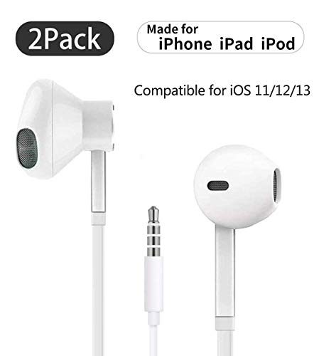for iPhone Earbuds with 3.5mm Headphone Plug Mic Call+Volume Control...