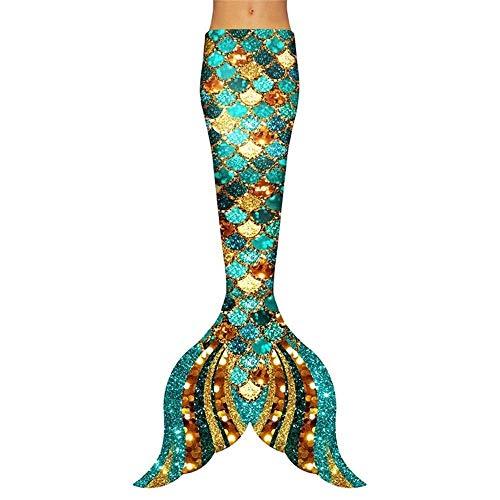 Cola De Sirena for Niñas,Nadar Princesa Bikini Conjunto De Traje De Sirena,Tamaño Personalizado Traje de baño Princesa Sirena (Color : Style R)