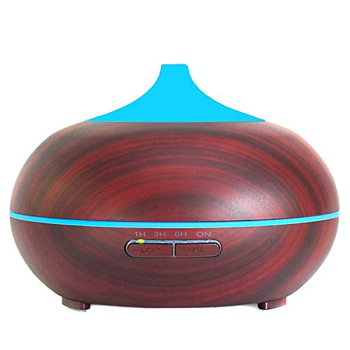 Your Spirit Space 300ml Aromatherapy Essential Oil Diffuser Portable Ultrasonic Cool Mist Humidifier - 7 Color LED Lights Auto Shut-Off Home Office Bedroom Spa Yoga Living/Baby (Cherry)