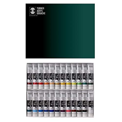Turner Gouache Acrylic 24 Color Paint Set